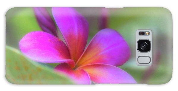 Pink Peekaboo Plumeria Galaxy Case