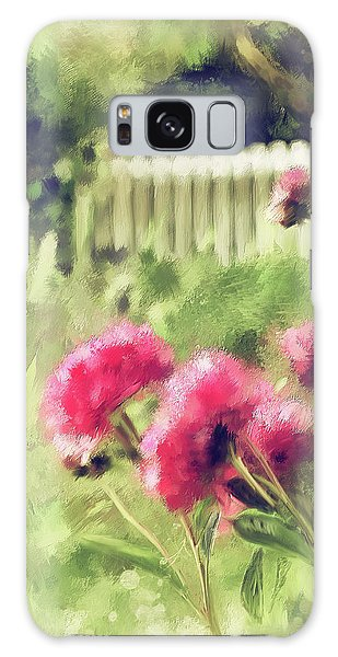 Pink Peonies In A Vintage Garden Galaxy Case by Lois Bryan