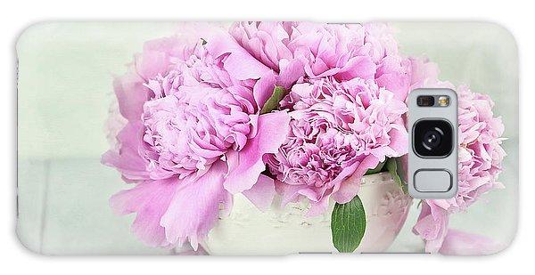 Pink Peonies Galaxy Case by Stephanie Frey
