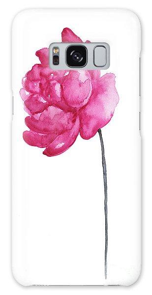 Pink Flower Galaxy Case - Pink Peony, Nursery Room Print, Baby Girl Kids Room Decoration,  by Joanna Szmerdt