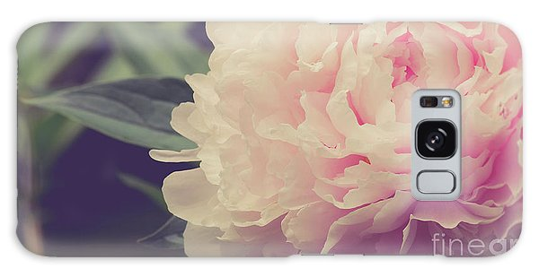 Galaxy Case featuring the photograph Pink Peony Vintage Style by Edward Fielding