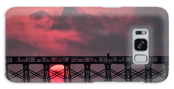 Pink Pier Sunrise Galaxy Case