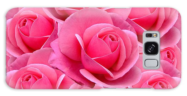 Pink Pink Roses Galaxy Case
