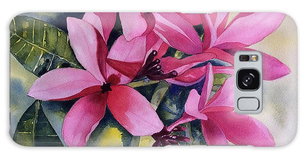Pink Plumeria Flowers Galaxy Case