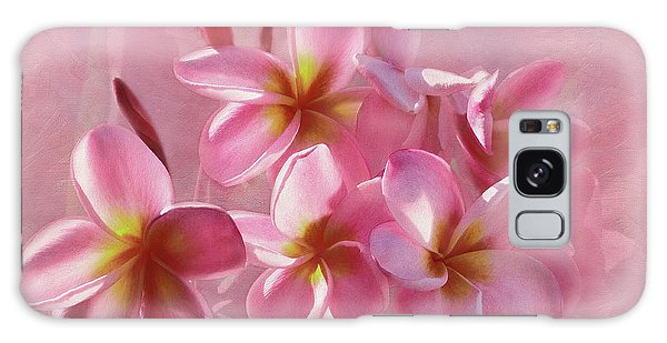 Galaxy Case featuring the photograph Pink Plumeria Pastel By Kaye Menner by Kaye Menner