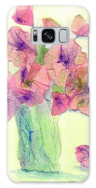 Pink Poppies Galaxy Case by Veronica Rickard