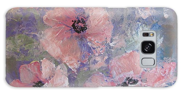 Pink Poppy Galaxy Case