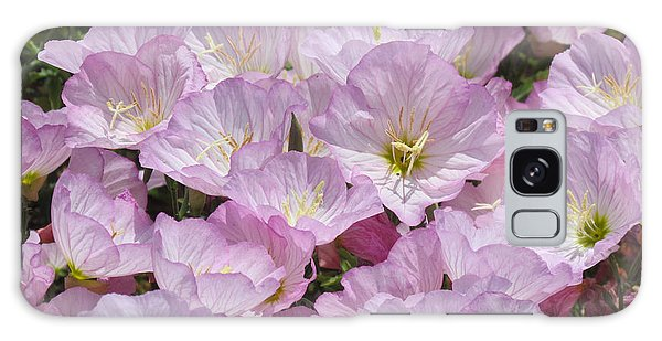 Pink Primrose Galaxy Case by Bonnie Muir
