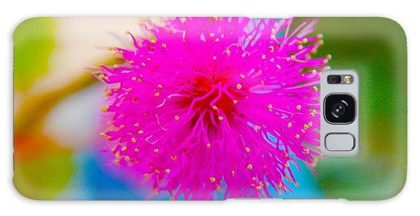 Pink Puff Flower Galaxy Case