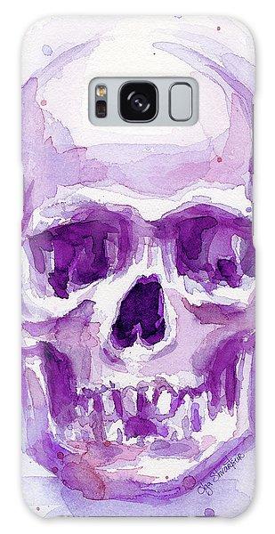 Skull Galaxy Case - Pink Purple Skull by Olga Shvartsur