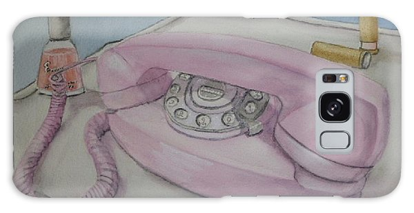 Pink Retro 1960 Telephone Galaxy Case