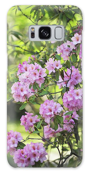 Buy Art Online Galaxy Case - Pink Rhododendron Bloom by Jenny Rainbow