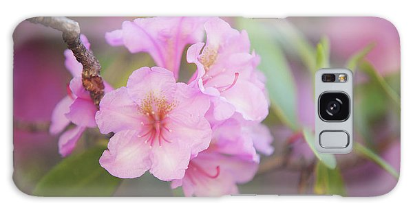 Buy Art Online Galaxy Case - Pink Rhododendron Flowers by Jenny Rainbow