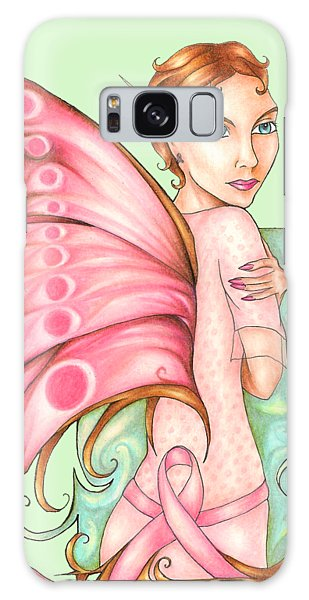 Pink Ribbon Fairy For Breast Cancer Awareness Galaxy Case