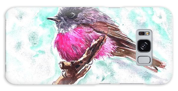Pink Robin  Galaxy Case