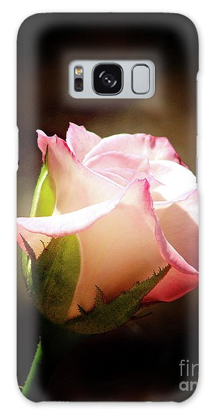 Pink Rose 2 Galaxy Case by Inspirational Photo Creations Audrey Woods