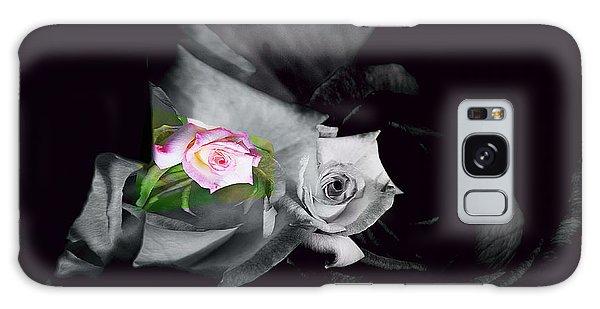 Pink Rose 2 Shades Of Grey Galaxy Case
