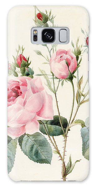 Decorative Galaxy Case - Pink Rose And Buds by Louise D'Orleans
