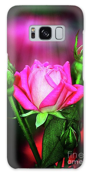 Pink Rose Galaxy Case by Inspirational Photo Creations Audrey Woods