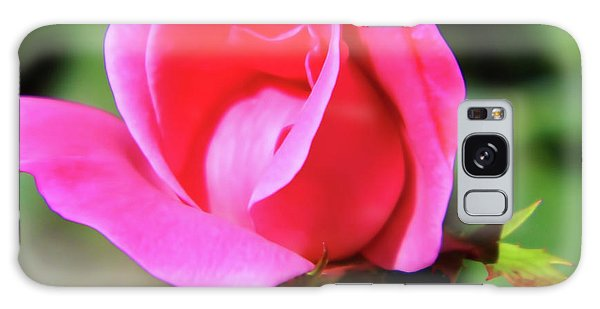 Pink Rose Bud Galaxy Case