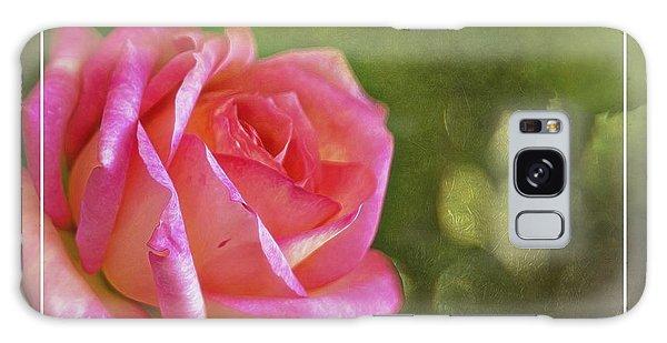 Pink Rose Dream Digital Art 3 Galaxy Case