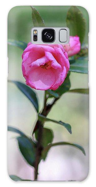 Pink Rose Flower Galaxy Case
