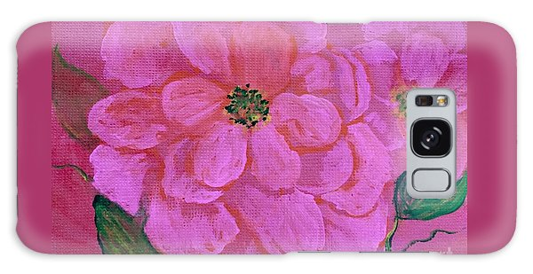 Pink Rose Flowers Galaxy Case
