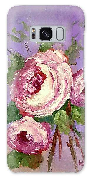 Pink Rose Galaxy Case by Janet Garcia