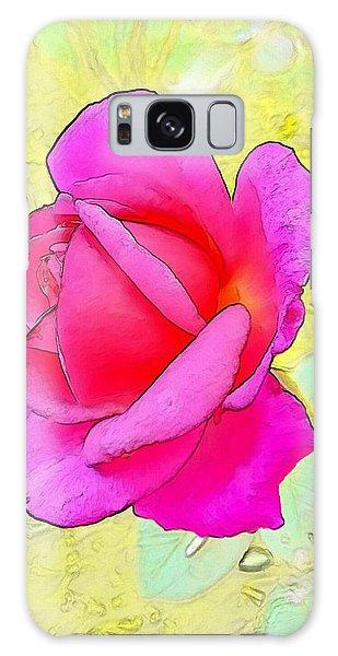 Galaxy Case - Pink Rose by Kumiko Izumi