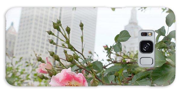 Pink Rose Of Tulsa Galaxy Case