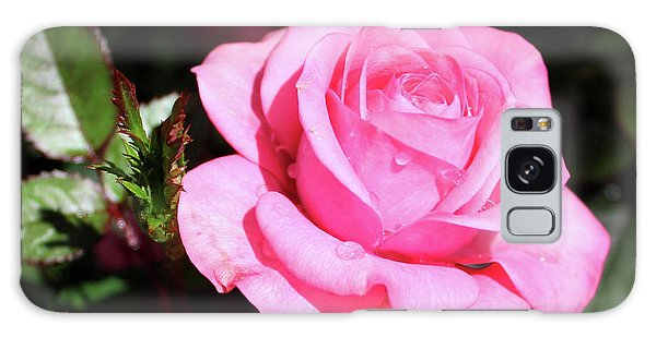 Pink Rose Galaxy Case by Ronda Ryan