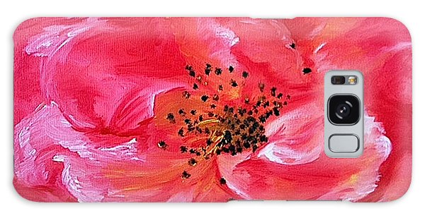 Pink Rose Galaxy Case by Sheron Petrie