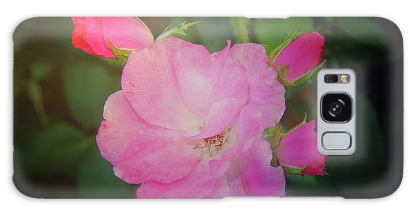 Pink Roses  Galaxy Case by Inspirational Photo Creations Audrey Woods
