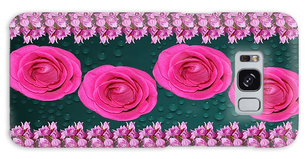 Pink Roses Floral Display Galaxy Case by Gary Crockett