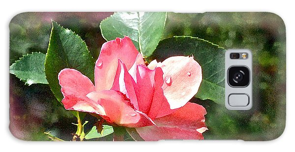 Pink Roses In The Rain 2 Galaxy Case
