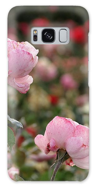 Pink Roses Galaxy Case by Laurel Powell