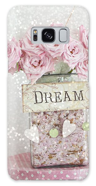 Cottage Galaxy Case - Shabby Chic Dreamy Pink Roses - Cottage Chic Pink Romantic Roses In Jar  - Dream Roses by Kathy Fornal