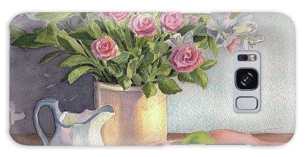 Pink Roses Galaxy Case by Vikki Bouffard