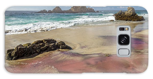 Pink Sand Beach In Big Sur Galaxy Case
