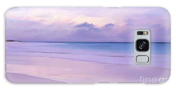 Pink Sand Purple Clouds Beach Galaxy Case
