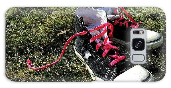 Pink Shoe Laces Galaxy Case
