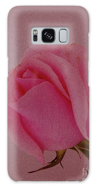 Pink Single Rose Galaxy Case