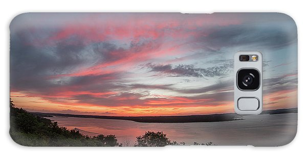 Pink Skies And Clouds At Sunset Over Lake Travis In Austin Texas Galaxy Case