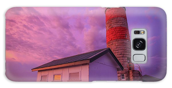 Pink Skies At Cape Moreton Lighthouse Galaxy Case