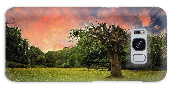 English Countryside Galaxy Case - Pink Sky At Night by Martin Newman