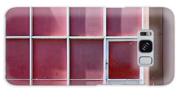 Galaxy Case - Pink Squares by Julie Gebhardt