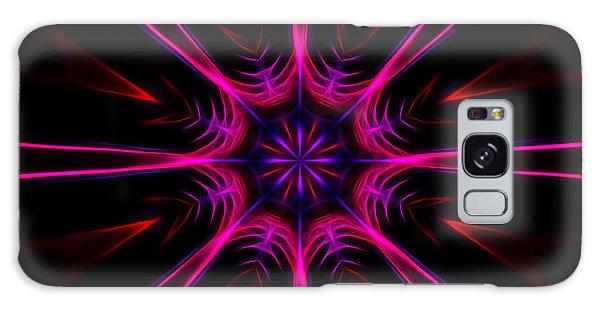 Pink Starburst Fractal  Galaxy Case