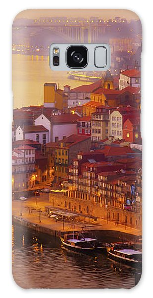 Pink Sunset In Porto Galaxy Case