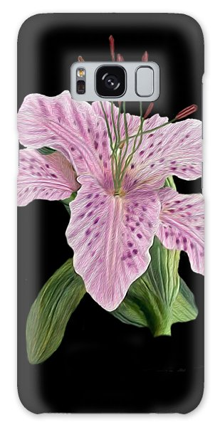 Pink Tiger Lily Blossom Galaxy Case by Walter Colvin