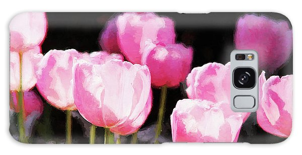 Pink Tulips Galaxy Case